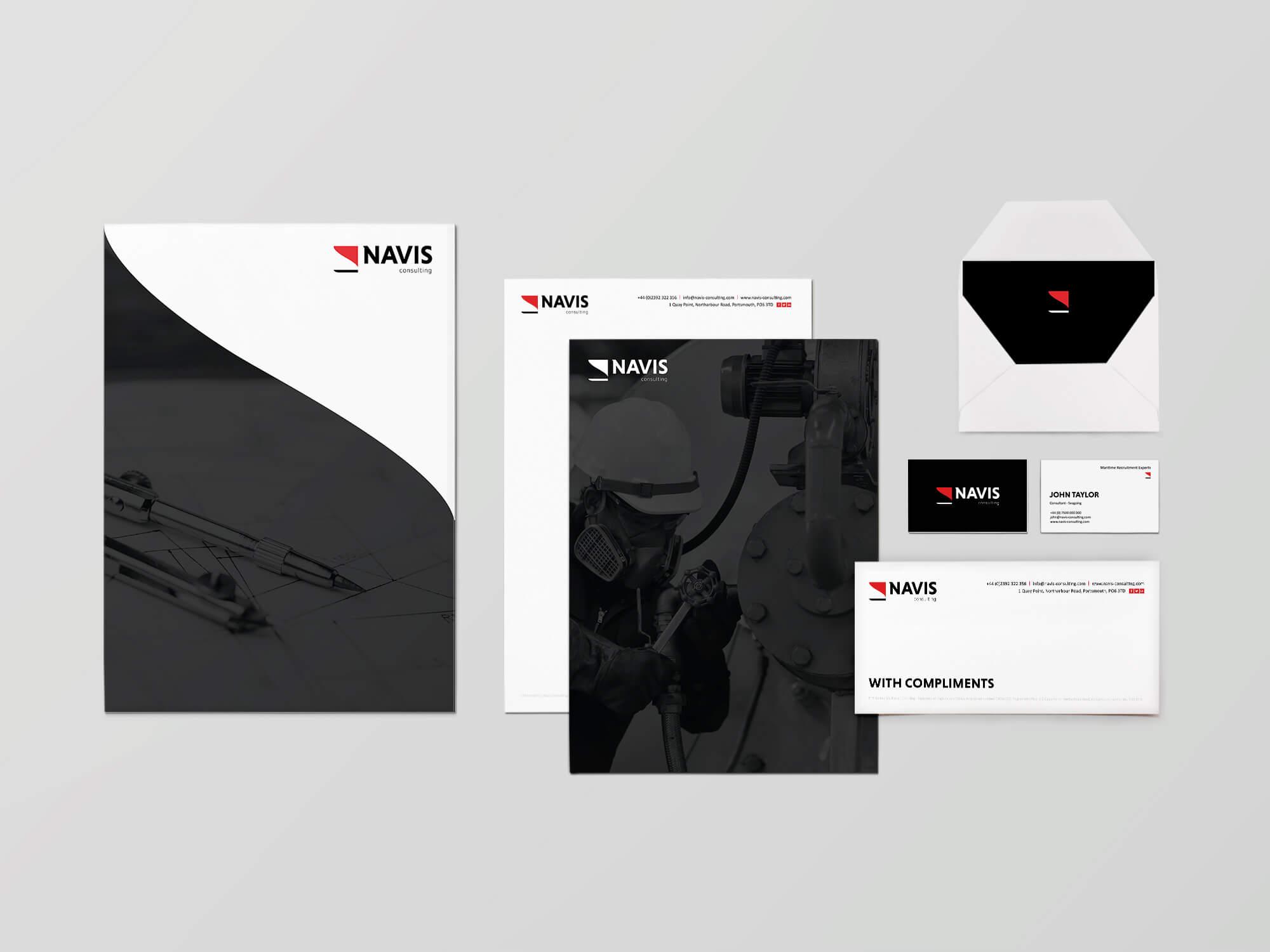 Navis Consulting | Branding | Stationery | Recruitment
