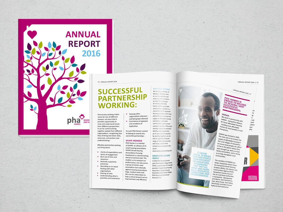 PHA Annual Report | branding agency hampshire