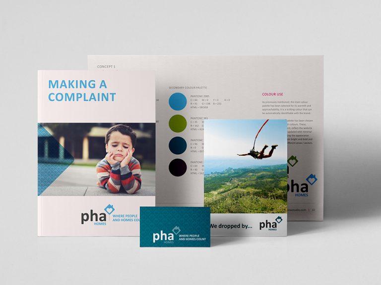 PHA Homes Branding Logo Design Brochure Leaflets Brand Guidelines