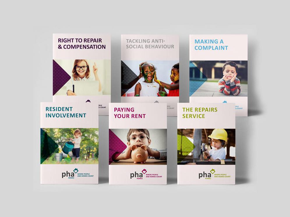 PHA Homes Branding Logo Design Leaflets