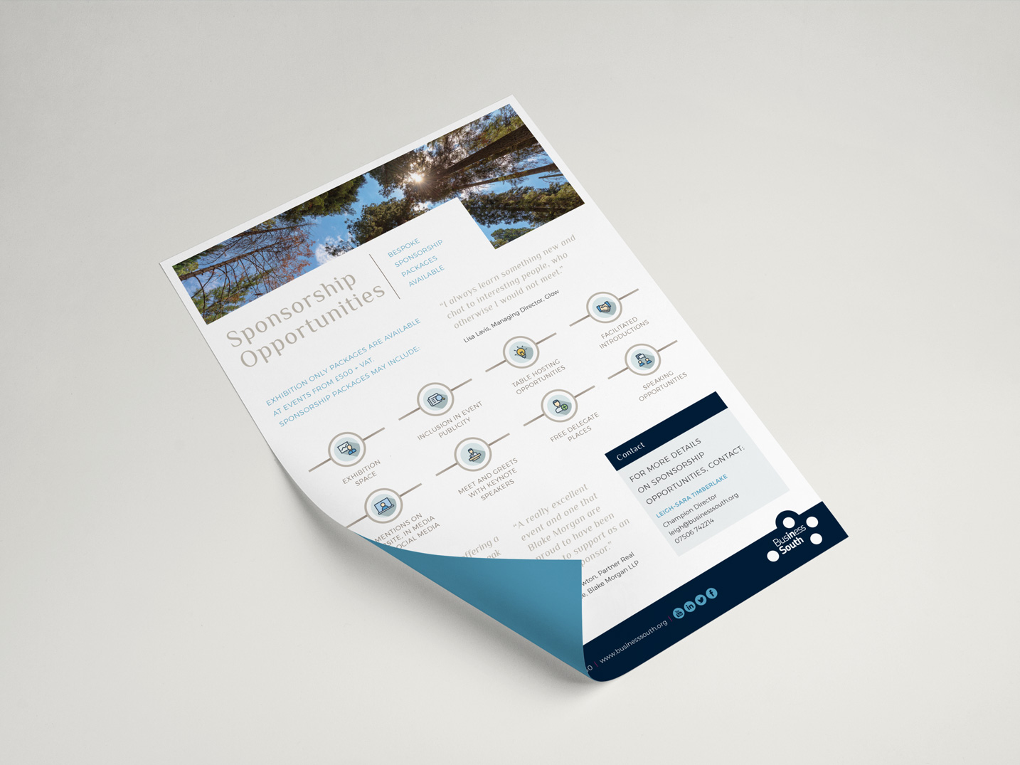 Business South | Print Design | Information Document | Event materials