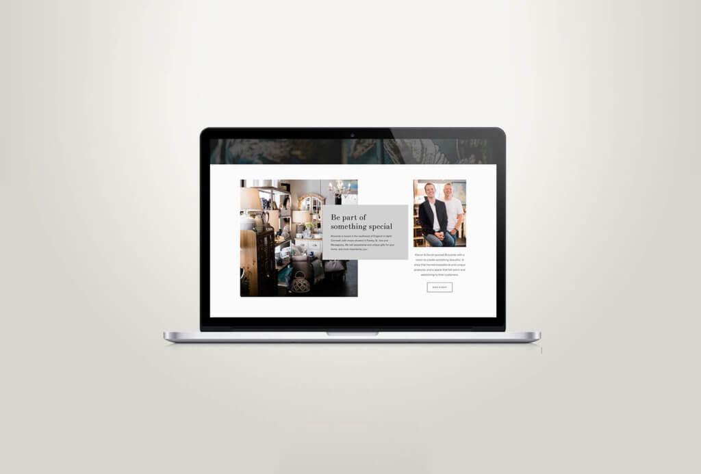 Brocante Website Design Squarespace