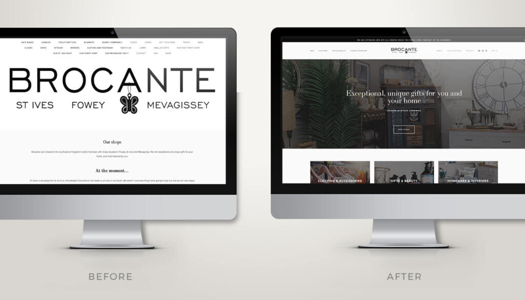 Brocante Website Design Squarespace