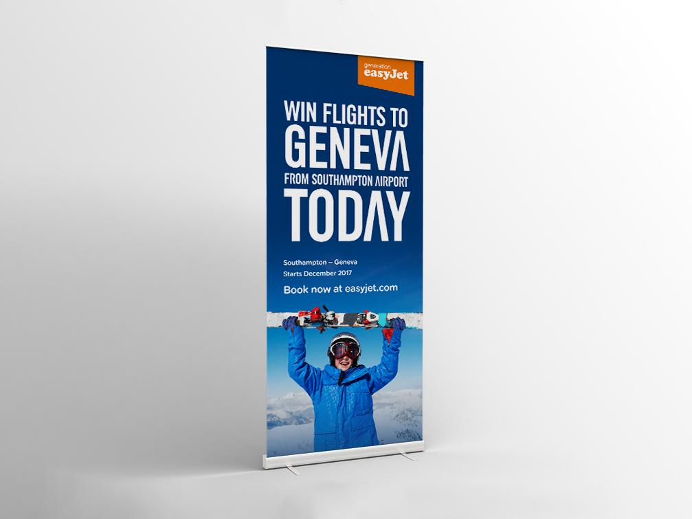 easyJet Advert | Advertising | Digital Banners | Print Ad | Pop Up | Exhibition Graphic | campaign