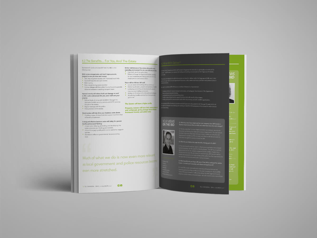Segensworth Business Forum | SBF | Branding | Print & Digital | Website | BID Document | Tender