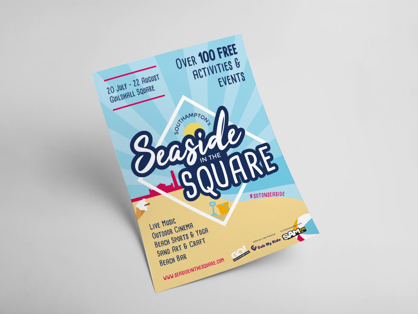 GO! Southampton | Seaside in the Square | Branding | Logo Design | Post Design