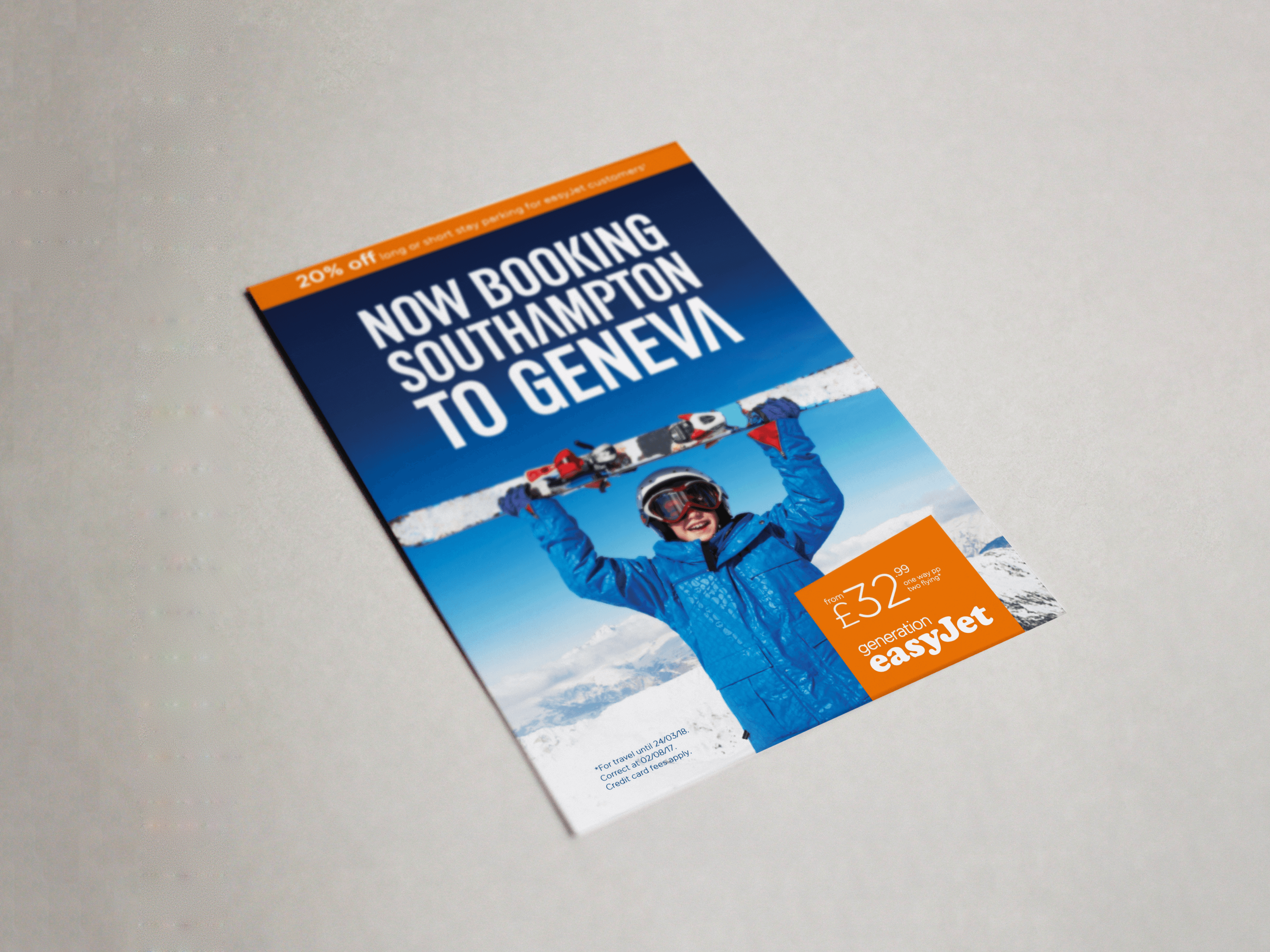 Southampton Airport | easyJet | Flyer | Advert Design