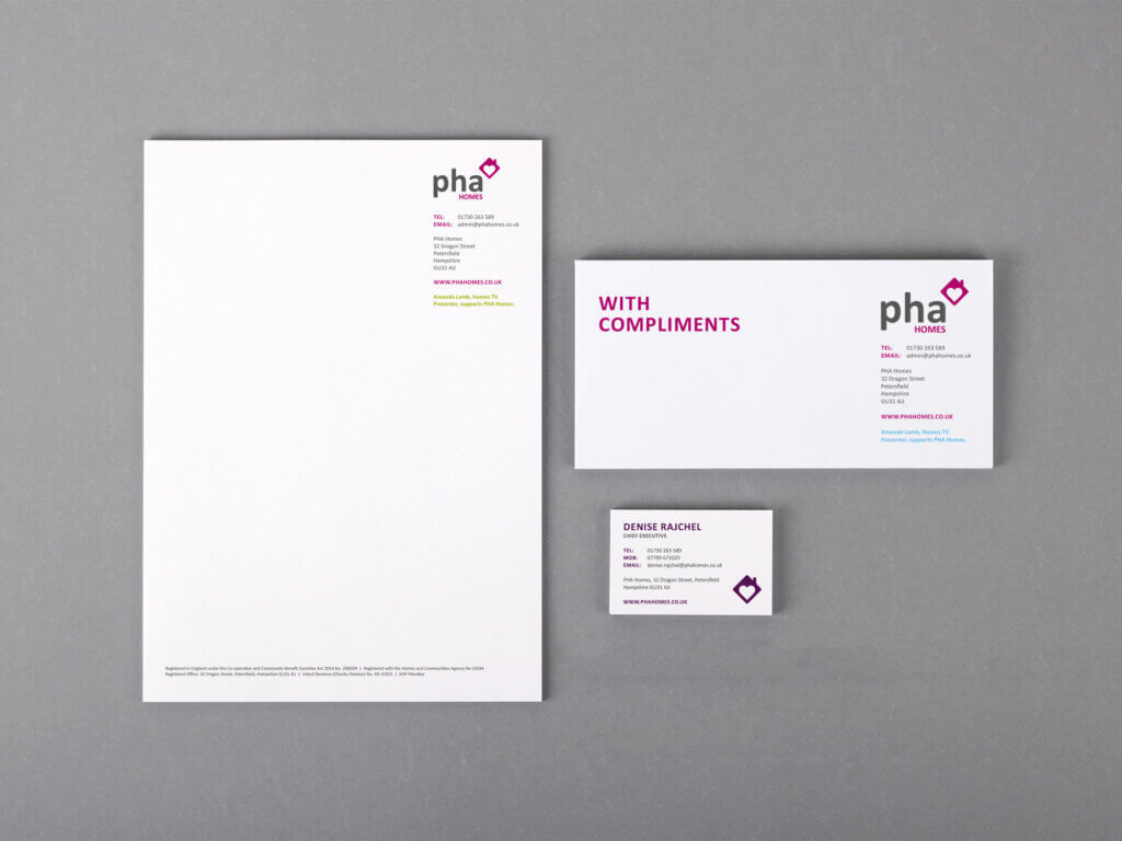 Stationery update for PHA Homes
