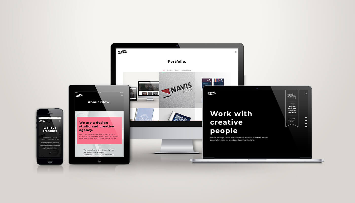 Glow rebrand website