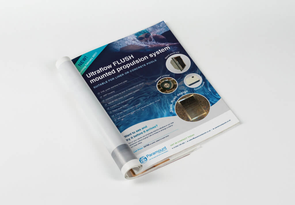 Paramount Pools Product Packaging and Adverts