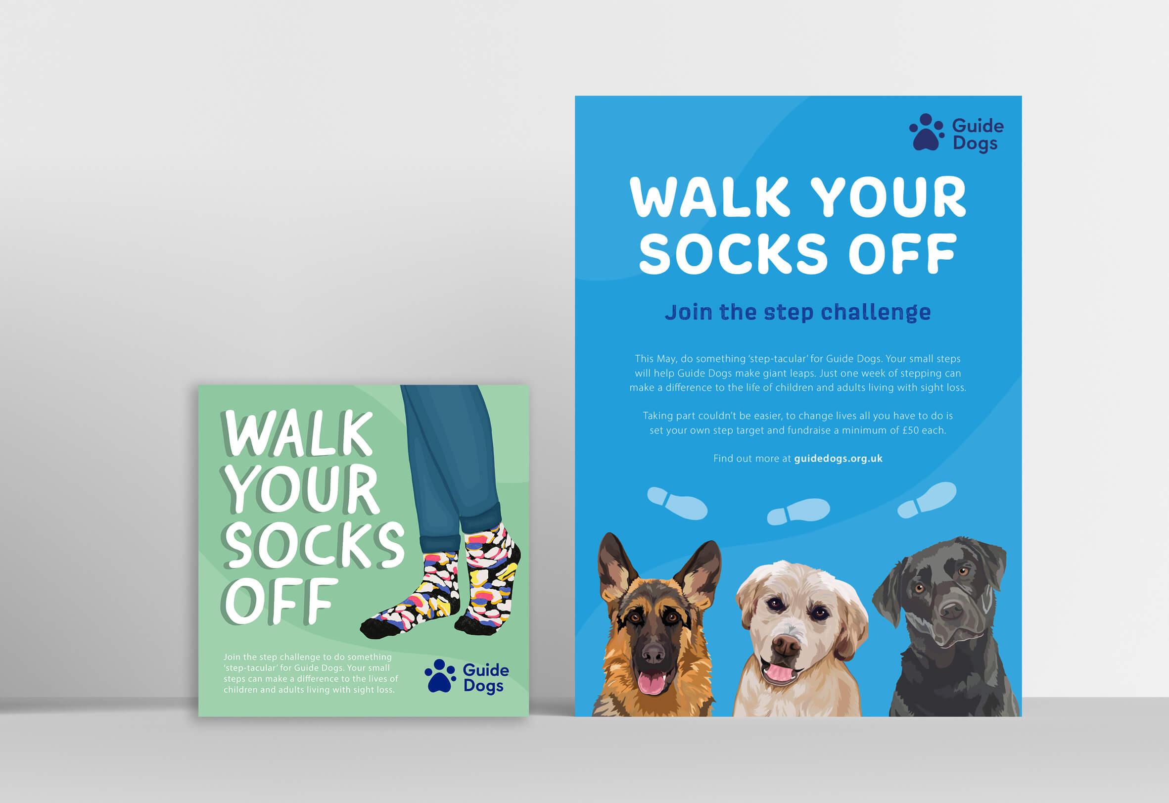 Elena Dawkin's Guide Dog Poster and Social Media Graphic Design